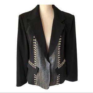 V Cristina Embellish Black Blazer •Size Large